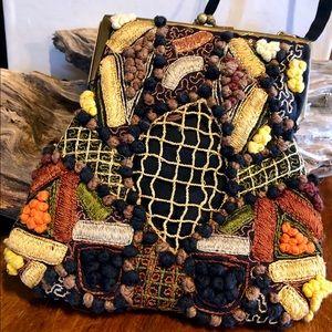 Vintage handmade crossbody pinch bag- from India